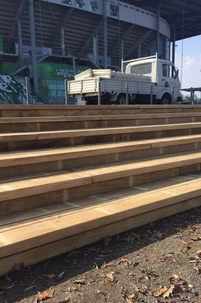 Treppe am Arenasee gebaut von Thorsten Stielau aus Wolfsburg